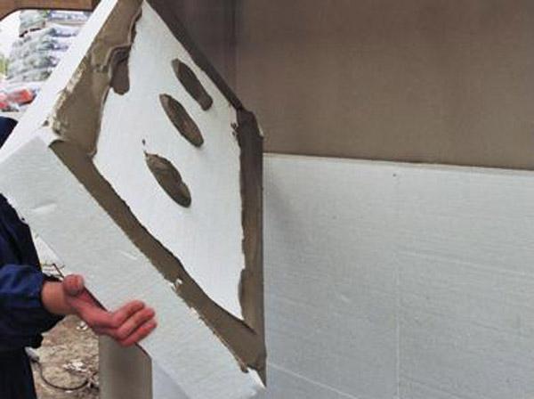 Технология утепления стен пенопластом