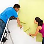 Окрашивание стен и потолков