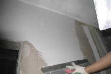Шпатлевание поверхности в два слоя