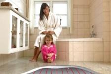 Как сделать ванную комнату теплой
