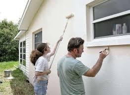 Покраска дома снаружи своими руками