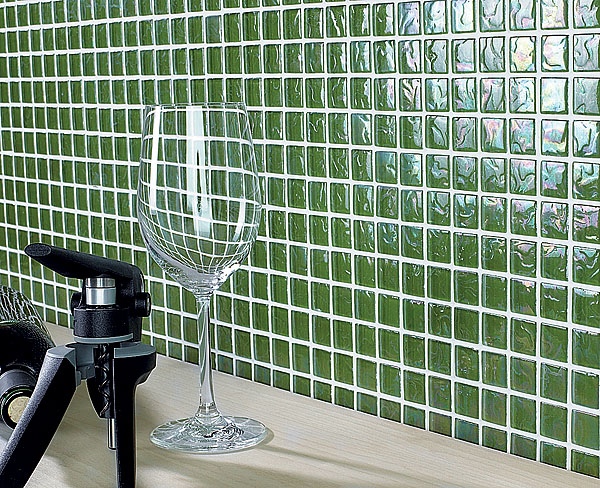 Кладка разных видов стеклянной плитки