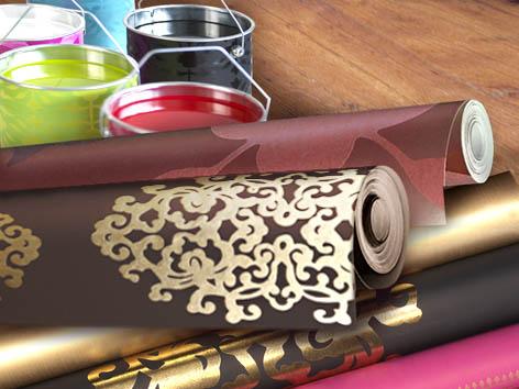 Виды обоев и применение текстильные флазелиновые