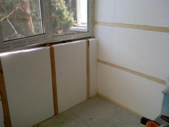 Как провести утепление стен пенопластом