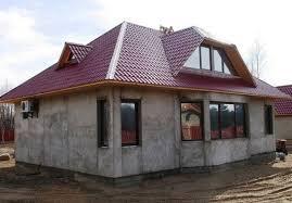 Загородный дом. Монолитный бетон.