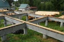 Типы фундамента для деревянного дома