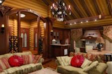 Ремонт гостиной в деревянном доме