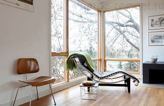 Французское окно — изысканный вкус и обилие природного освещения