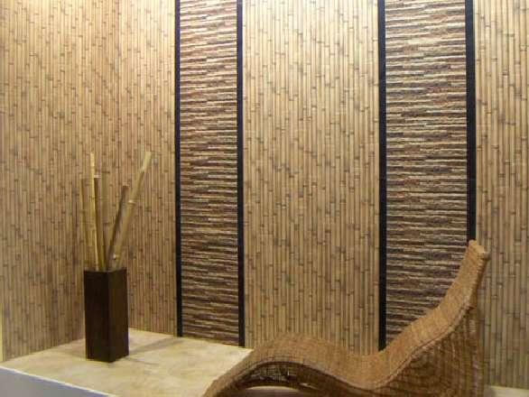 Декоративные бамбуковые панели: технология наклейки