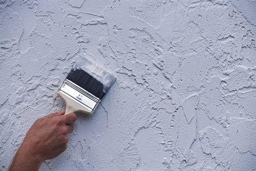 Как покрасить фактурную штукатурку