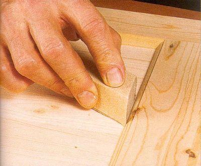 Подготовка деревянных поверхностей под окраску