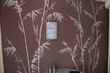 Роспись стен с помощью трафарета
