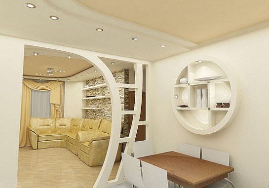Конструкции из гипсокартона в дизайне интерьера дома