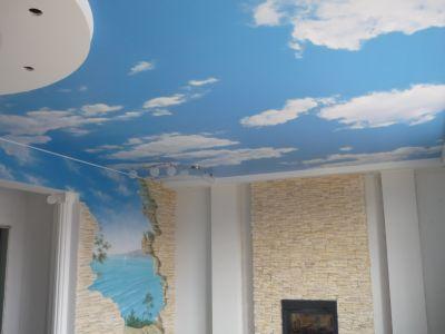 Натяжной потолок, натяжные стены