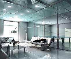 Офисные перегородки в интерьерах стиля хай-тек