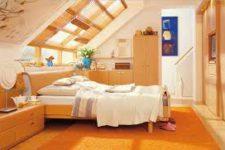 Расстановка мебели для спальни с гардеробной