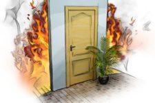 Входные противопожарные двери