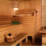 Брусовая баня для отдыха и здоровья