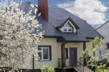 Устройство крыши для деревянного дома и кровельный материал