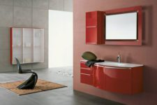 Яркие акценты стильной ванной комнаты