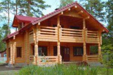 Строительство дома из лафета