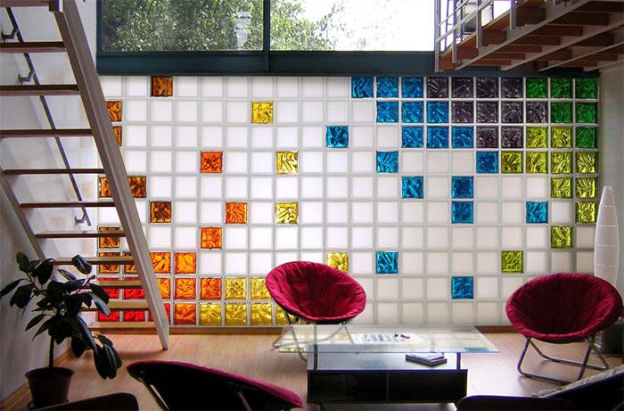 Стеклоблоки в интерьере квартиры или дома