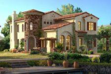 Дом в средиземноморском стиле. Керамическая черепица