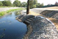 Укрепление береговой линии водоемов