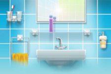 Как разместить аксессуары в ванной