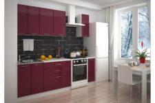 Кухни с лаковыми фасадами