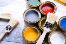 Отличное решение для декорирования стен в ванной и кухне – латексная краска с добавлением силикона.