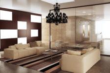 Использование зеркал и стекла в оформлении помещений