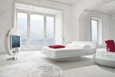 Кожаные кровати в интерьере спальни: роскошный выбор