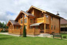 Оотделка дома из древесины хвойных пород
