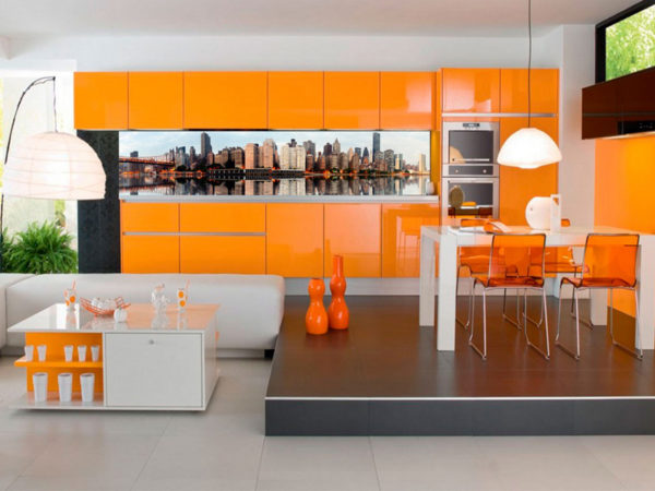 Кухонные эмалевые фасады