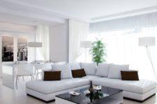 Особенности мебели и интерьера гостиной в белых тонах