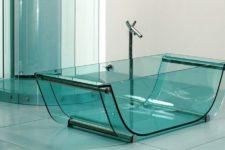 Полностью прозрачная стеклянная ванна