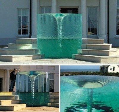 Фонтан водоворот. Необычные фонтаны мира