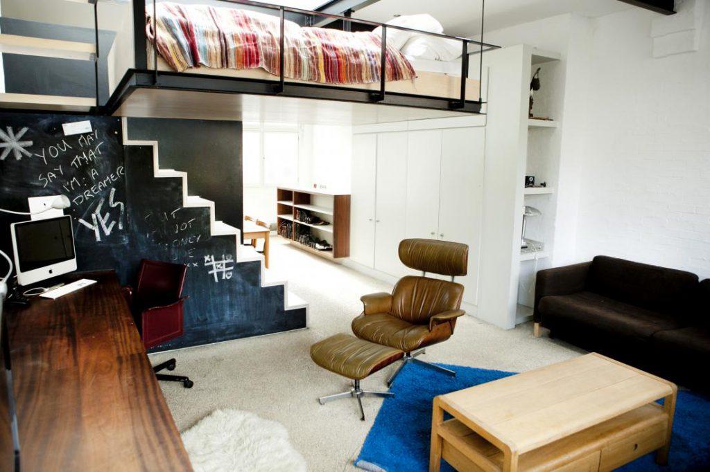 Спальня — кабинет в сталинке. Дизайн спальни с высокими потолками — необычный интерьер