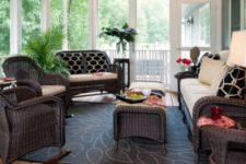 Мебель из натурального ротанга — особенности использования в современном интерьере