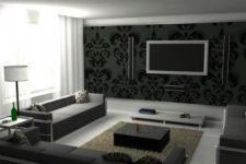 Дизайн интерьера и черная мебель