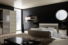 Дизайн интерьера для мужской спальни