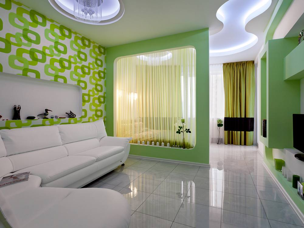 Дизайны для спальни гостиной