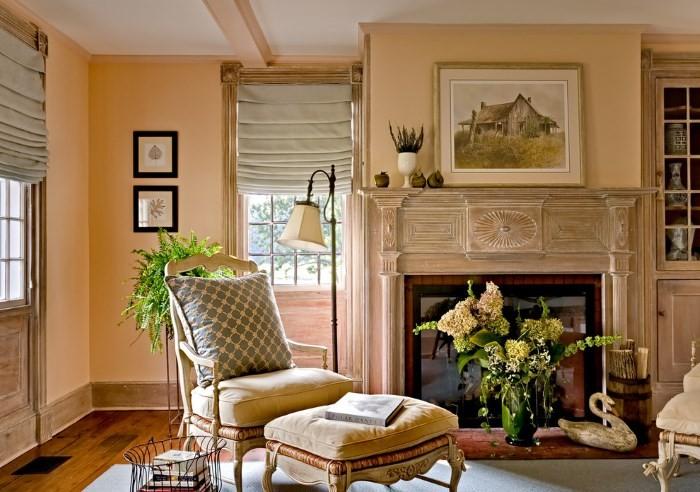Фруктовое настроение – оттенки персикового цвета в интерьере