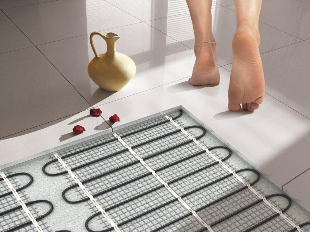 Монтаж теплого пола в ванной комнате