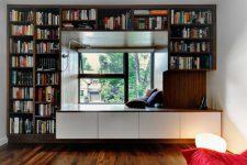 Шкаф вокруг окна — оригинальные идеи оформления