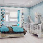 Какой дизайн выбрать для спальни с детской кроваткой?