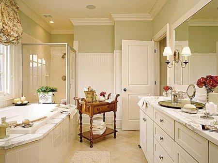 Интерьер ванной комнаты: классика всегда в моде