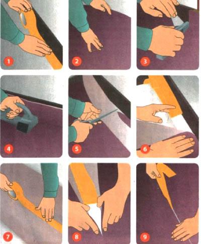 Как уложить ковролин своими руками на скотч