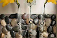 Галька в интерьере – варианты использования